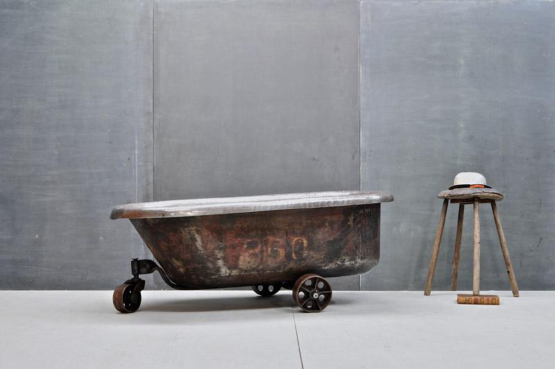 Vintage Industrial Chocolatiers Stainless Steel Tub