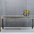 Vintage Industrial Lyon Folded Steel Six Foot Work Table