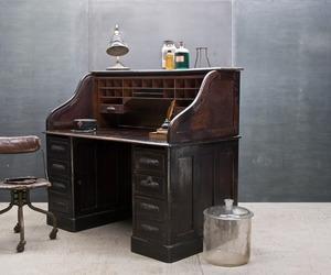 Vintage Industrial Oak Quartermasters Mercantile Desk 1800s