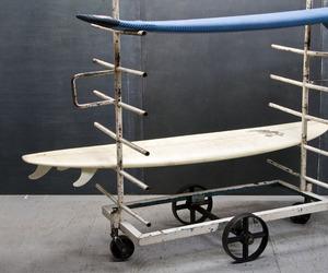 Vintage Industrial Surfboard Shop Steel Cast Iron Rack