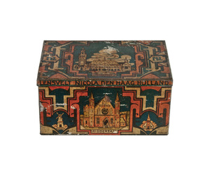 Vintage Lensvelt Nicola Bakery Tin Box, The Hague at Relique