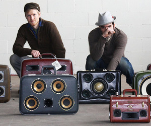 Vintage Luggage Become One Of A Kind Boomboxes