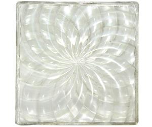 Vintage Luxfer Prism Company Glass Tile Spiral Design