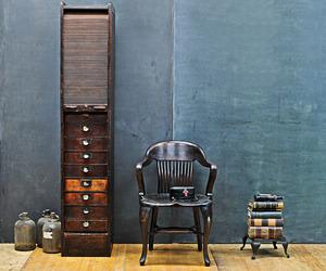 Vintage Mercantile Victorian Oak Tambour Drawer Cabinet