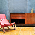 Mid-Century Saarinen Knoll Grasshopper Lounge Chair