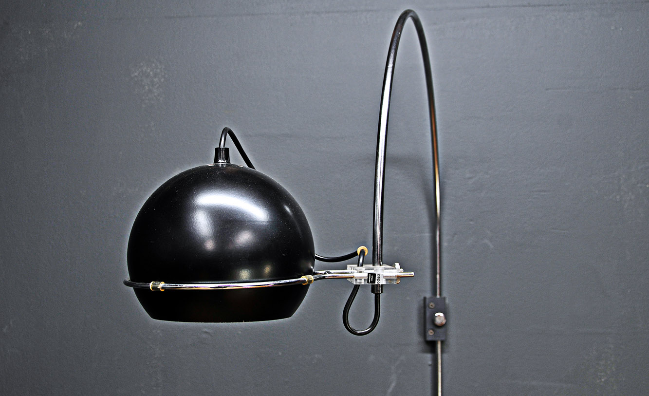 Vintage Wall Mounted Lamps : Vintage Modern Dutch Gepo Arc-Eye Wall Mount Lamp
