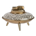 Vintage Ronson Flying Saucer UFO Table Lighter - Relique