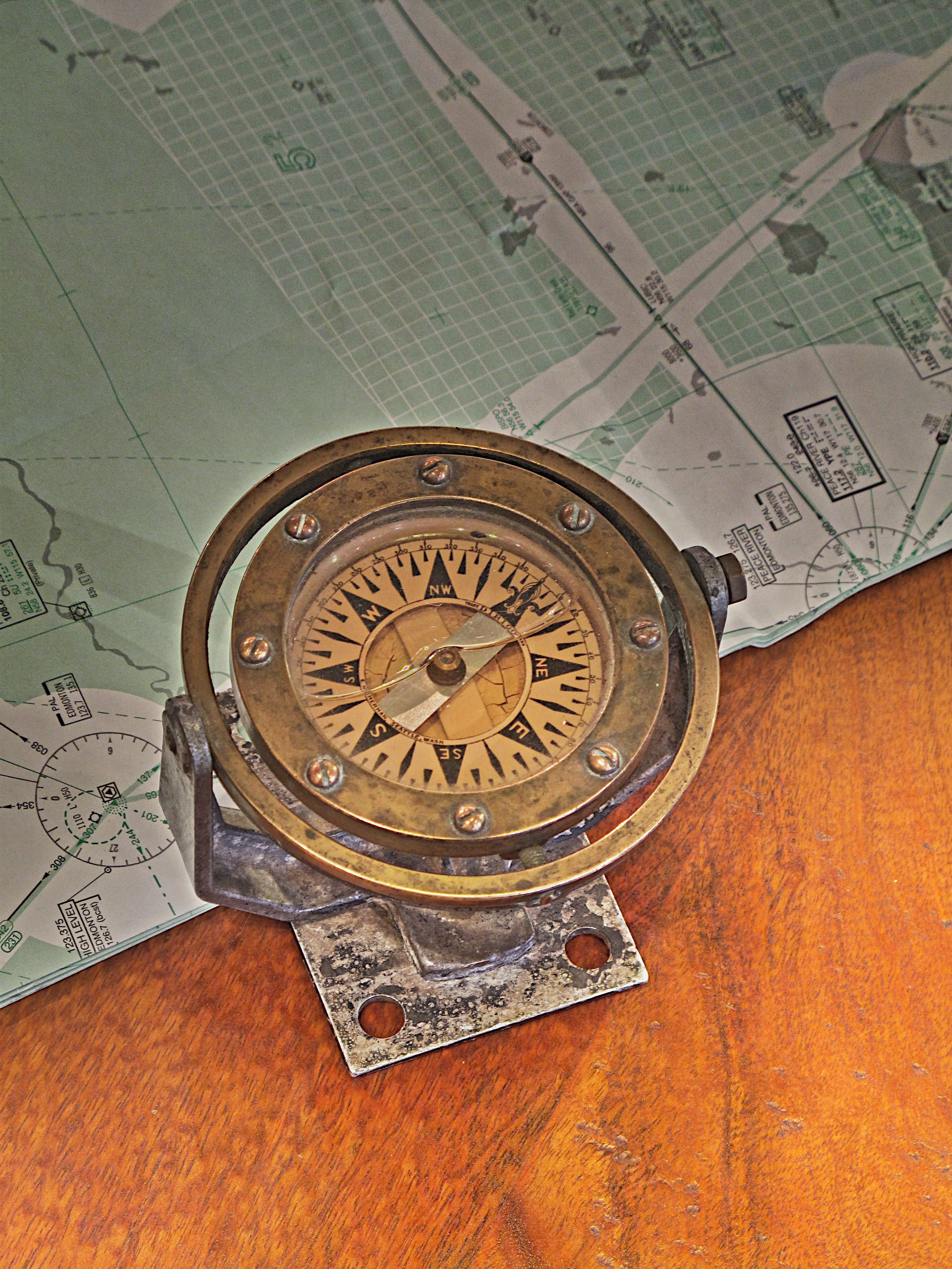 Vintage Ship S Compass