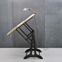 Vintage Viennese Cast Iron Black Drafting Table