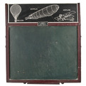 Vintage W. J. Baker Chalkboard Drawing Easel Set at Relique