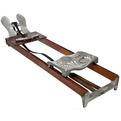 Vintage Wood and Aluminum Rowing Exercise Machine