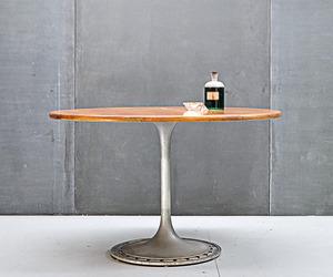 Vintage Yachts Mast Teak Aluminum Dining Table