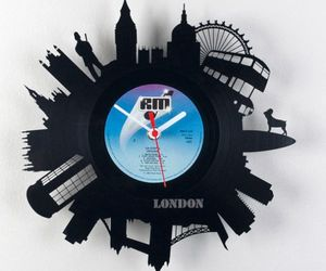 Vinyl Records Become Modern City Wall Clocks