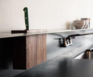 Viola Park Backsplash Shelf with Integrated Knife Block