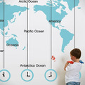 Wall Map Decal Designs