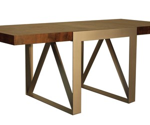 Walnut and Steel Extension Table