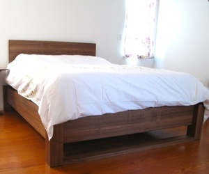 Walnut Bed Frame by Fine Line Creations