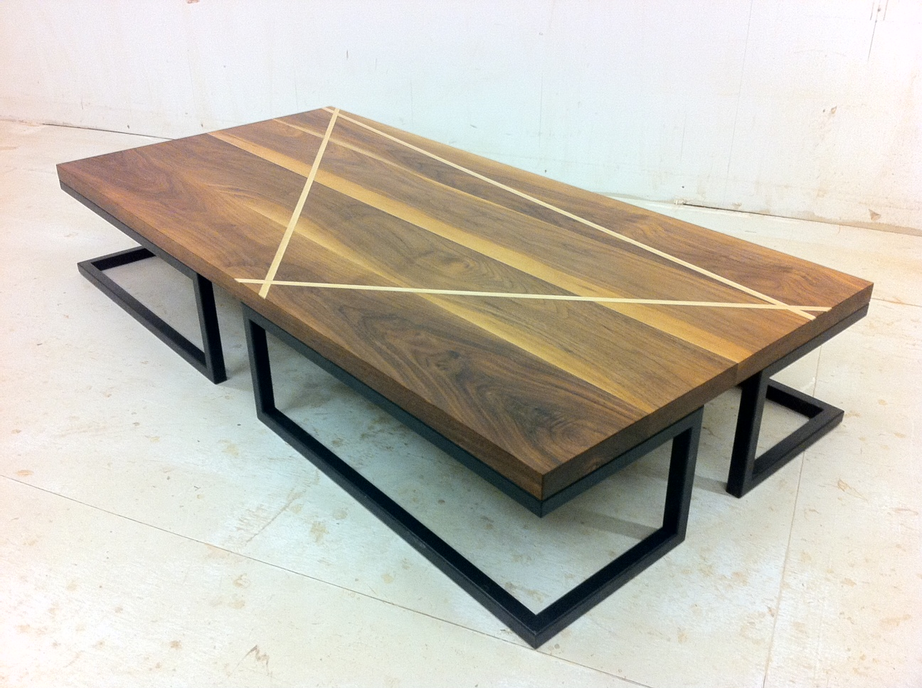 - Walnut Coffee Table, Sycamore Cream