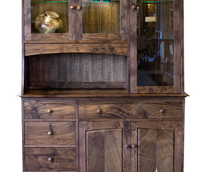 Walnut Handcrafted Woodstock Hutch