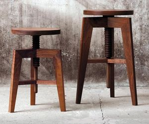 Walnut Stool By Mint