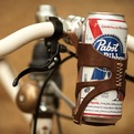 Walnut Studios Leather Bicycle Can Cage