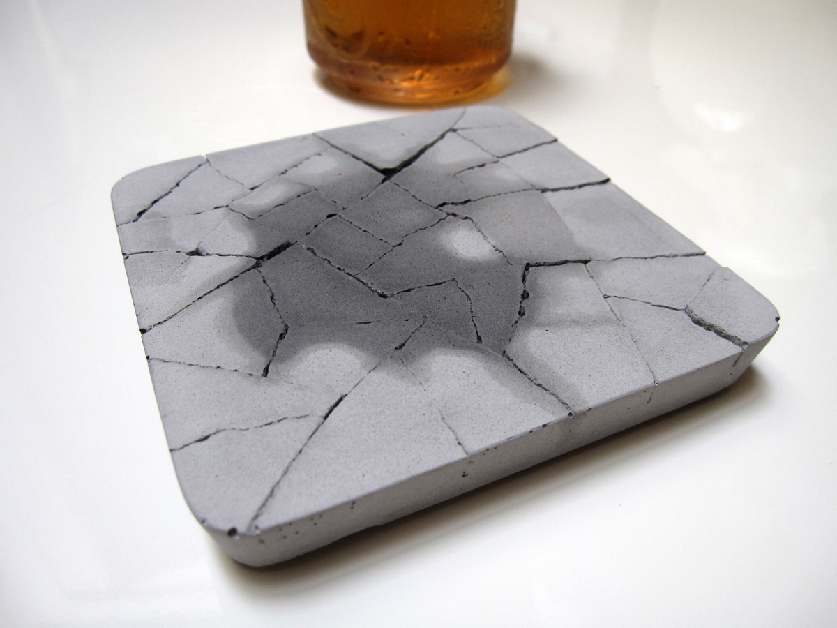 These concrete drink coasters will prove you respect wood thrillist - Drink coasters absorbent ...
