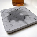 Water Absorbent Concrete Coasters