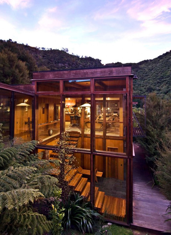 Waterfall Bay House In New Zealand By Bossley Architects