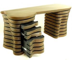 'Wave' desk designed by Robert Brou