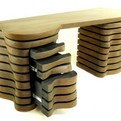 'Wave' desk designed by Robert Brou