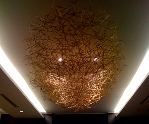 Welded Brass Rod Ceiling Sculpture