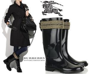 Wellington Boots - Burbery Chain Embellished
