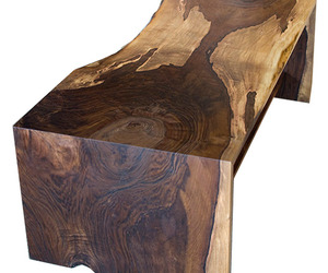 Western Walnut Live Edge Coffee Table by the Joinery