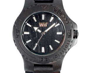 WeWOOD Date Black Wooden Watch