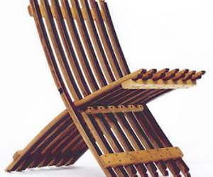 Whit McLeod's Wine Barrel Folding Chair