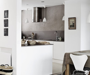 White and grey in a stylish Finnish home