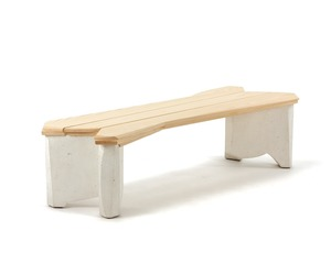 White Cast Bench by Nico Yektai
