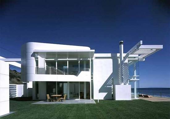 White beach house richard meier