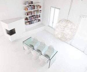 White Loft Interior by Romolo Stanco
