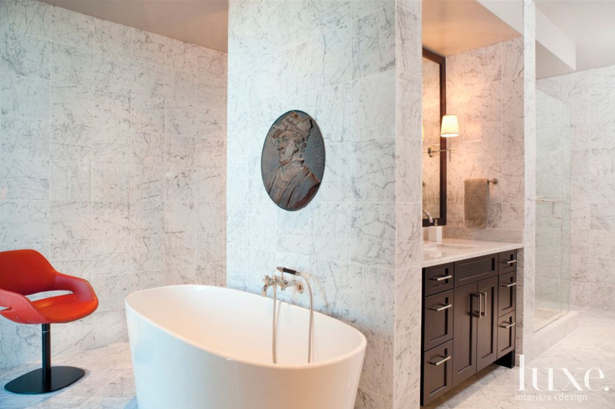 Perfect  White Marble Bathroom