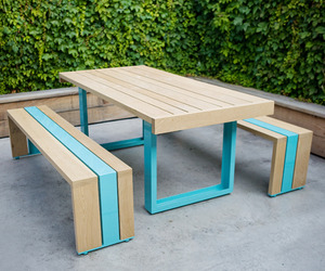 White Oak Table for Your Terrace