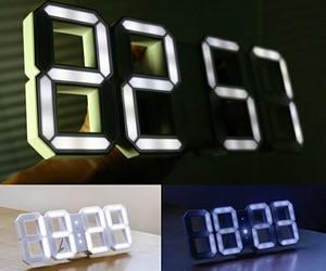 White & White LED Clock