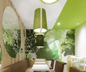 Wienerwald Restaurant In Gets Forest Inspired Interiors