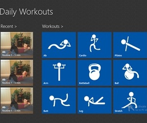 Windows 8 - Daily Workout App