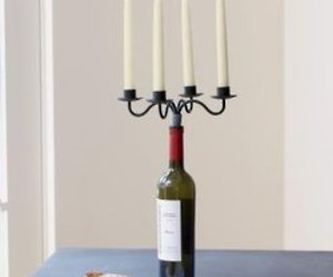 Wine Bottle Candelabra from Sundance