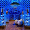 Wine Cellar Illuminated by LED by Beckwith Interiors