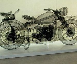 Wire Sculptures By Shi Jindian From China