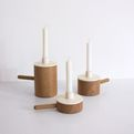 Wood And Ceramic Candle Stands | Marie Dessuant