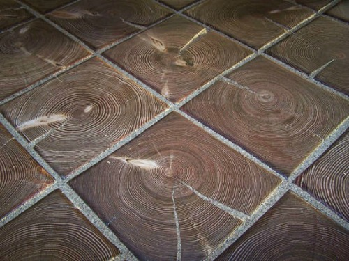 Wood block flooring and paving for Wood floor knocking block