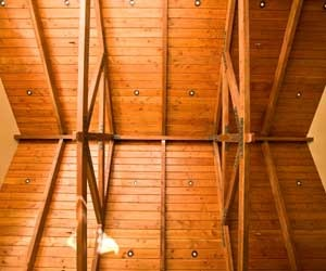 Wood Truss Vaulted Ceiling